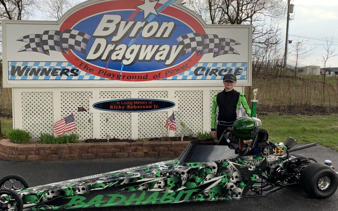 Byron Dragway Wyatt Bacon Jr Dragster
