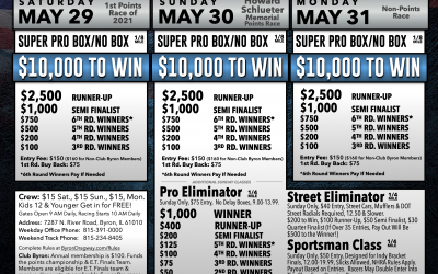 Three $10,000 to Win Bracket Races Announced for Memorial Day Weekend