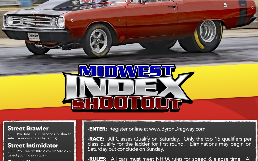 Midwest Index Shootout Entry List for October 2-3, 2021